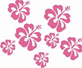 12 Hibiscus Stickers